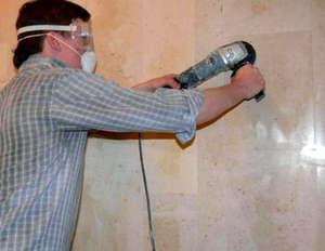 Polishing tiles