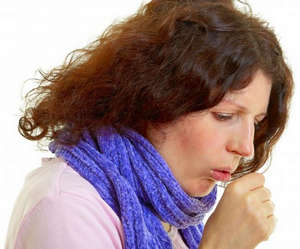 Dry cough in a woman