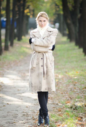 Girl in coat