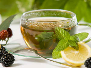 Ginger tea with mint