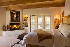 Fireplace in the bedroom