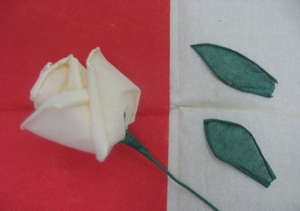 Rose from napkins