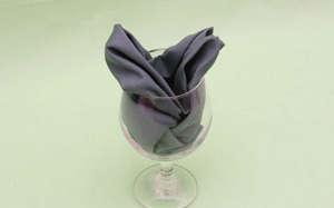 Napkin in a glass