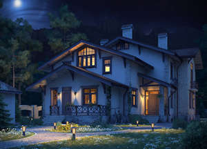 Mistress's house at night