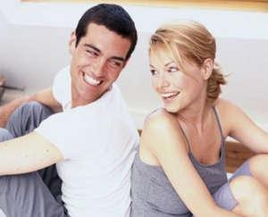 Husband and wife rejoice