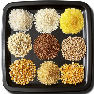 Different cereals on a plate
