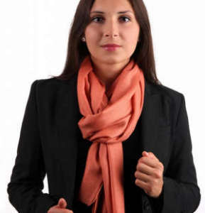 Scarf with coat