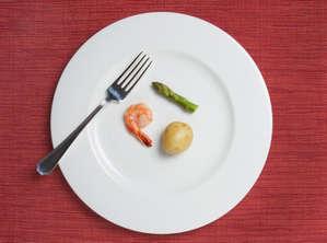 Полпустая тарелка