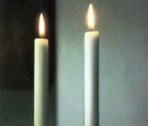 Two church candles