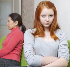 Mom and daughter quarreled