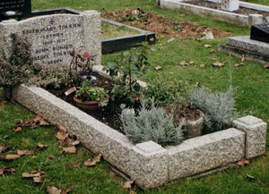 Grave in the cemetery