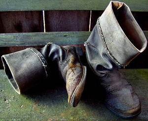 Pair of old boots