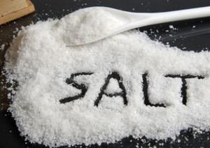 Salt on the table