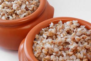 Buckwheat porridge in a pot