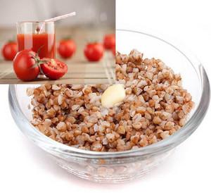 Porridge with Tomato Juice