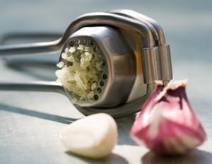 A slice of garlic
