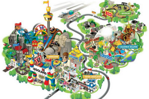 Park map with themed areas