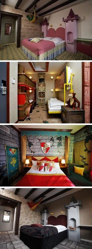 Several options for a room at the Legoland Hotel