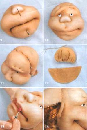 Прорисовка лица куклы