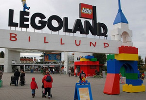 The entrance to the park Legoland