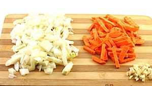 Carrots with onions