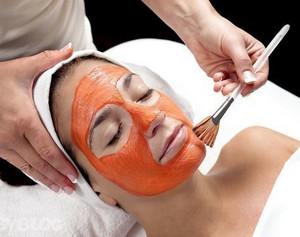 Peach mask application