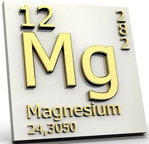 The designation of magnesium in the periodic table of chemical elements