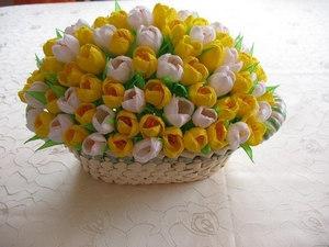 Бумажные тюльпаны как делать