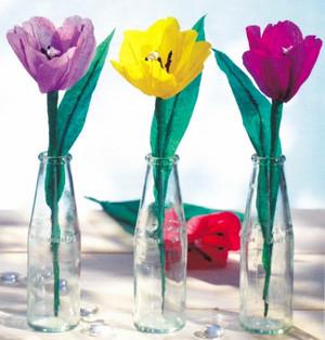 Paper tulips