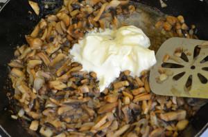 Adding sour cream