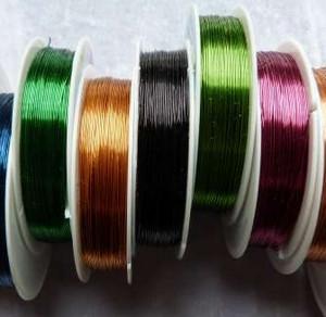 Colored wire coils