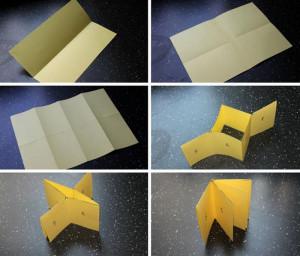 Схема изготовления мини-книги из бумаги