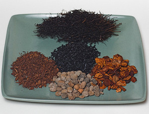 Components of soil for orchids