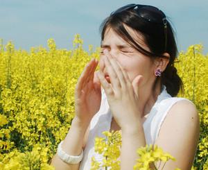A woman has allergic rhinitis