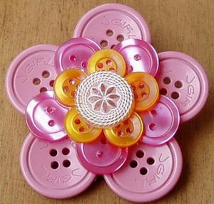 Pink Button Flower