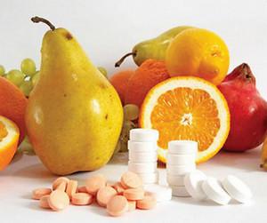 Fruit and Vitamin Pills