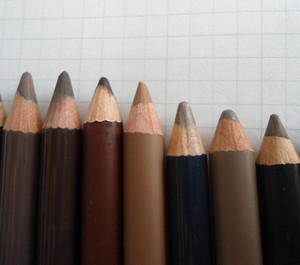 Eyebrow pencils in different colors