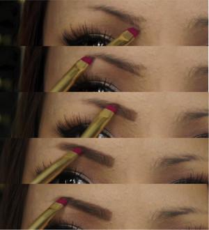 Eyebrow drawing