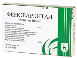 Упаковка таблеток Фенобарбитал