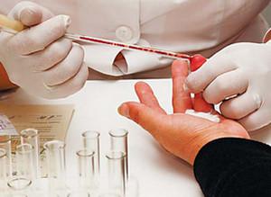 Забор крови из пальца для анализа