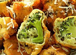 Broccoli in batter