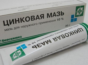 Zinc ointment in a tube