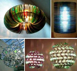 Лампы и светильники из старых CD