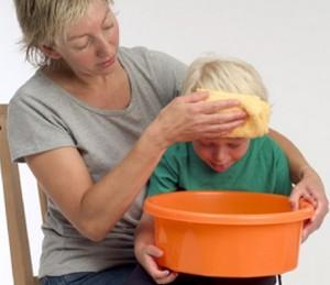Child's nauseous over the orange wash