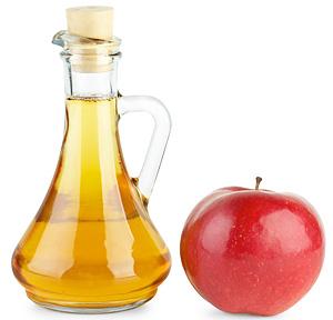 Vinegar and apple