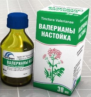 Tincture of valerian in the package