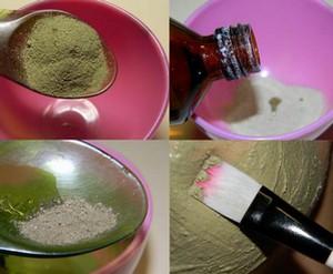 Cooking mask on the basis of badyagi