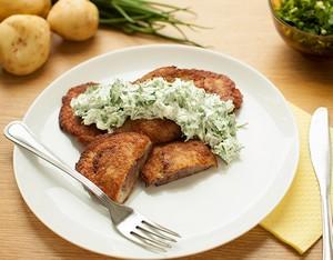 Колдуны из картофеля на тарелке