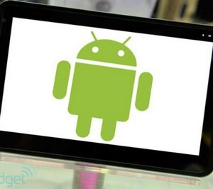 Android icon on the screen