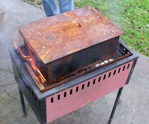 Smokehouse on the grill